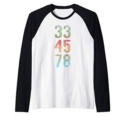 Camiseta de coleccionista de discos de regalo Vinyl Lover 33 Camiseta Manga Raglan