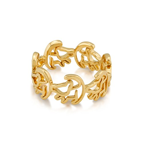 Disney Couture - Anillo con diseño de Simba (chapado en oro amarillo)