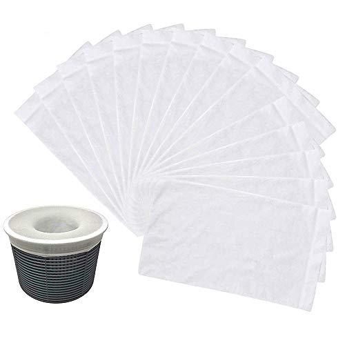 Jiusion 30-pack pool skimmer strumpor, perfekt pool och spa-sparare för filter, korgar och skimmer-paket