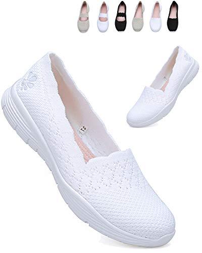 [ziitop] スニーカー レディース ナースシューズ スリッポン 白 婦人靴 超軽量 介護 靴 ウォーキングシューズ 通気性 美脚 カジュアルシューズ 歩きやすい 疲れない スニーカー