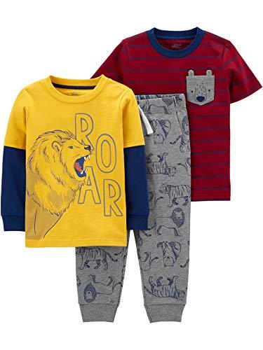 Simple Joys by Carter's Boys' Toddler 3-Piece Playwear Set, Lion/Bear, 3T