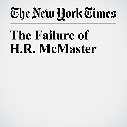 The Failure of H.R. McMaster copertina