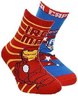 Suncity, Pack 2 calcetines Los Vengadores Avengers Ironman y Capitán América T.23/26