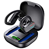 Donerton Wireless Earbuds, Bluetooth 5.1 Sport Headphones with Charging Case, 10Hours Single Playtime Earhooks Headset, Wireless Earphone 6D Stereo HiFi Sound Noise Cancelling for Working/Travel/Gym