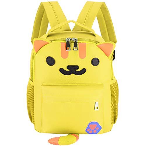 Vbiger Kinderrucksack Rucksack Kinder Kindergartenrucksack Rucksack für Jungen Mädchen 1-5 Jahren (Gelb)