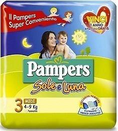 IRPot - 120 PANNOLINI PAMPERS SOLE E LUNA TAGLIA 3 6 CONF.