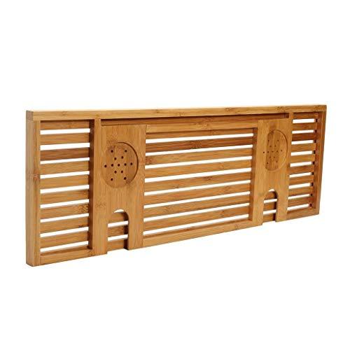 Queen Boutiques 1 stuk hout handgemaakte badkamerplank planken voor Pad Book Tablet Home badkamer accessoires badkuip rek staander houder