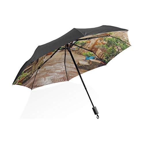 XL Regen Regenschirm Gasse in der altstadt pitigliano toskana Italien 3024116 tragbare kompakte klappschirm Anti uv Schutz Winddicht Outdoor Reise Frauen Regen Regenschirm Winddicht