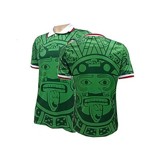 DFGH Camiseta de la selección Nacional de México 1998 para Hombre, para Hernández, Camiseta Retro, edición Especial Conmemorativa del Aficionado, Personalizable-Green-XL