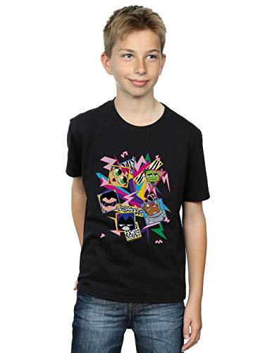 DC Comics Niños Teen Titans Go 80s Icons Camiseta Negro 9-11 Years