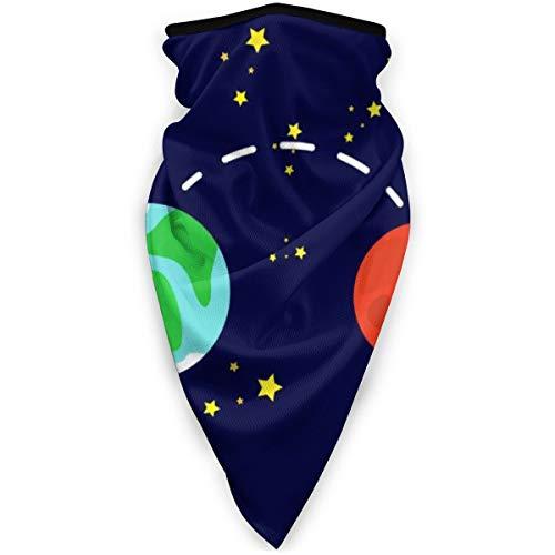 Osmykqe Cuello Bufanda Planetas Interiores Marte y Tierra 9.5'X 20' En Suave Polar Polaina Ms clida Cara para Clima fro Invierno Deportes al Aire Libre