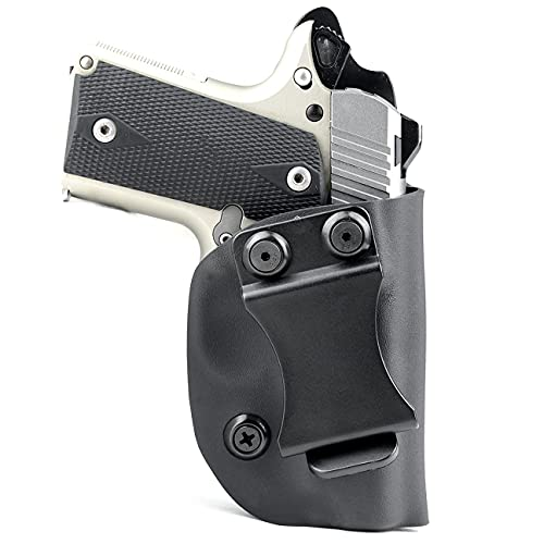 Matte Black - Kydex Concealment IWB Holster (Right-Hand, for...