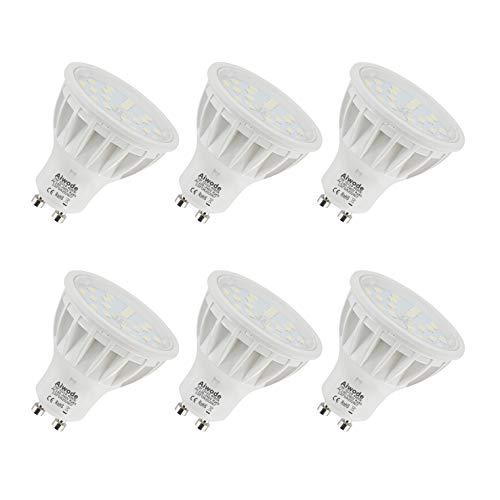 5W GU10 LED Lampadina Equivalente 50W Bianco Naturale 4000K Non Dimmerabile 600LM RA85 120°Angolo del fascio,6 Pezzi.