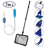 Toopify Aquarium Fish Tank Clean Tools, 6 in 1 Adjustable Cleaning Kit & Fish Tank Gravel Cleaner Siphon for Water Changing and Sand Cleaner