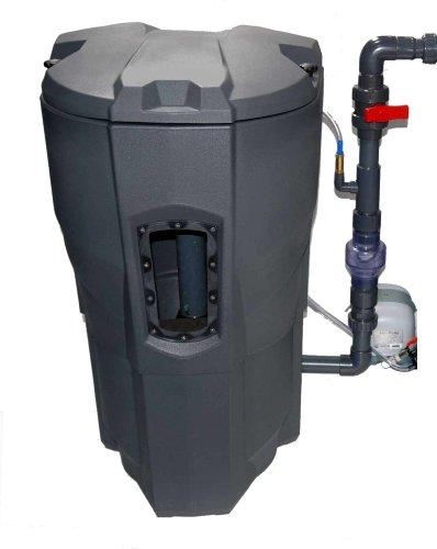 Selbstreinigender, automatischer Teichfilter - biologisch und mechanisch - für Gartenteiche, Koiteiche und Innenhälterungen bis 30000L Wasservolumen, CALICTUS AUTOMATIC für gesundes, glasklares Teichwasser, gesunde und vitale Koi und Teichfische. Der Calictus Automatik Teichfilter ist das Ende mühseligen Filterreinigens, Bürsten- und Mattenspülens! Ein automatischer, urlaubssicherer Teichfilter, der besonders kompakt ist und weniger als einen Quadratmeter Stellfläche benötigt. Calictus Automatik Filtersystem, incl. 100kg Filterglasperlen als biologisches und mechanisches Filtermedium