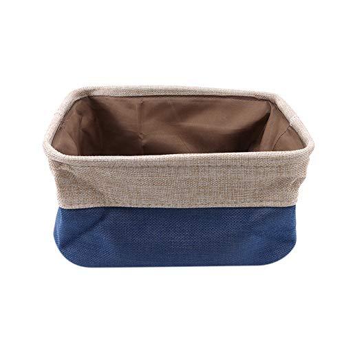 unknow Schwenly Cesta de almacenamiento plegable para el hogar, juguetes, libros, organizador con asa para dormitorio, color azul