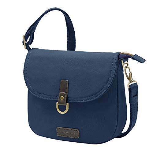 Travelon: Anti-Theft Courier Saddle Crossbody Bag - Navy