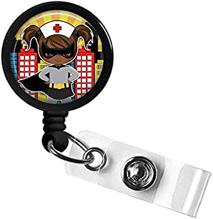Nurse Batman Retractable Name Badge Holder, Cute Badge Reel, Pediatric Badge Holder, Teacher ID Badge Reel, Nurse Badge ID Holder