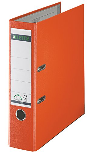 LEITZ Plastikordner 1010-45, 180 Grad, Rückenbr.: 80 mm, orange