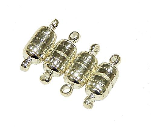Perlin 3 STK Magnet Verschluss Silber 15mm Metall SCHMUCK VERSCHLÜSSE VERBINDER Kettenverschluss Magnetverschlüsse für Schmuck Zubehör Kette Armband DIY M383
