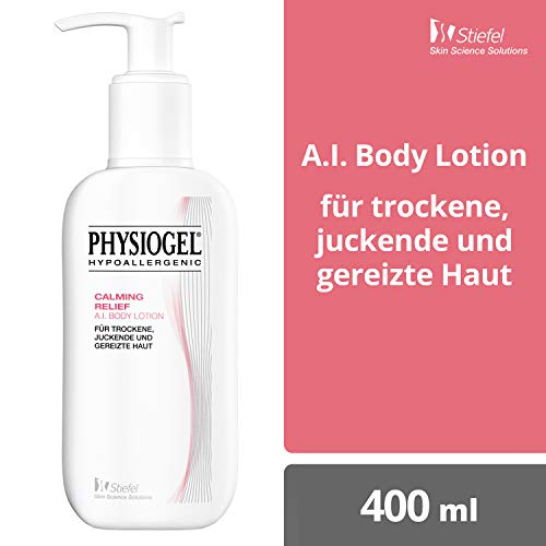 PHYSIOGEL Calming Relief A.I. Body Lotion, hypoallergen - Lindert sofort trockene, juckende Haut, 400 ml