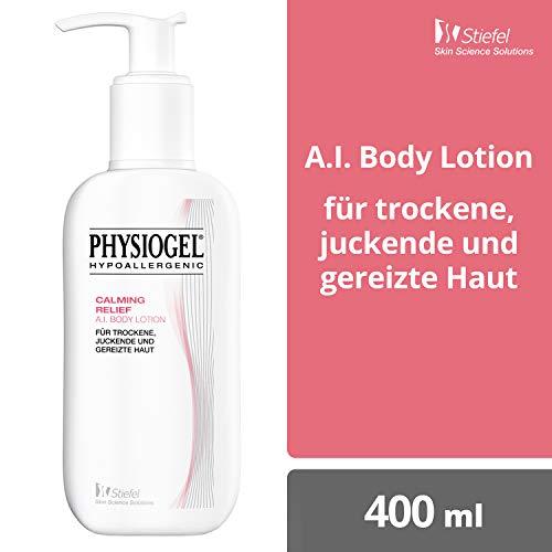 PHYSIOGEL Calming Relief A.I. Body Lotion, hypoallergen - Lindert sofort trockene, juckende Haut, 400 ml