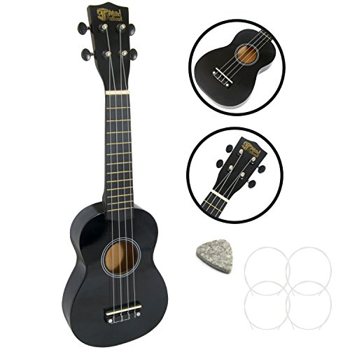 Mad About - Ukelele soprano, color negro