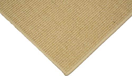 Teppich Janning Sisalteppich umkettelt Natur 100% Sisal gekettelt - Verschiedene Größen (100 x 200 cm)