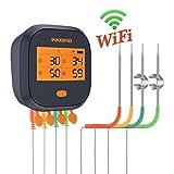 Inkbird IBBQ-4T Wi-Fi Termometro per Carne con 4 Sonde Termometro per Interno ed Esterno, Cucina,...