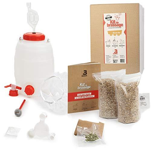 B Maker – Kit de cerveza rubio alle – Idea regalo para hombre y mujer – Kit para hacer cerveza en casa – reutilizable y fabricado en Francia – 3 litros