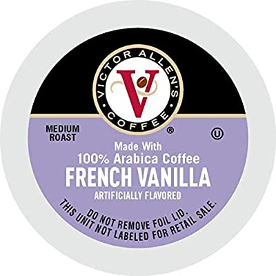 Victor Allen's Coffee French Vanilla Blend, Flavored Medium Roast, 80 Count Single Serve Coffee Pods for Keurig K-Cup Brewers