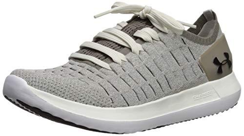 Under Armour Women's Slingride 2 Sneaker, Summit White (108)/Silt Brown, 6 M US