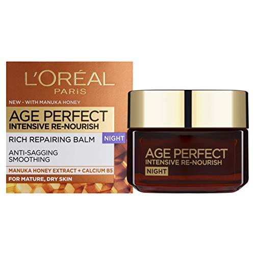 L'Oreal Age Perfect Intensieve Renourish Manuka-honing nacht, crème.