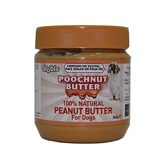 100% Natural Peanut Butter For Dogs - Specially Formulated For Dogs No Added Sugar, Salt or Xylitol - Free From Palm Oil, Wheat & Gluten - Healthy Source Of Protein (Pack of 1)