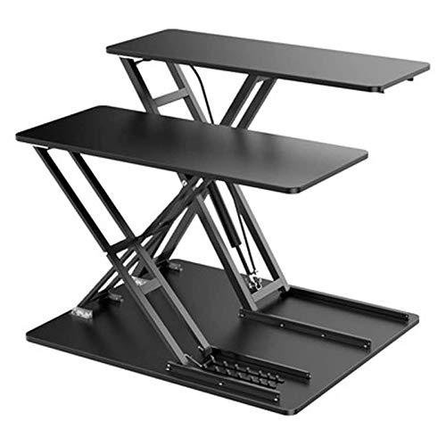 Mobile Laptop Stand Desk Computer Workstation, Laptop Table for Sofa/Bed, Laptop Desk, Standing Height Adjustable Computer Desk for Home Office,Black