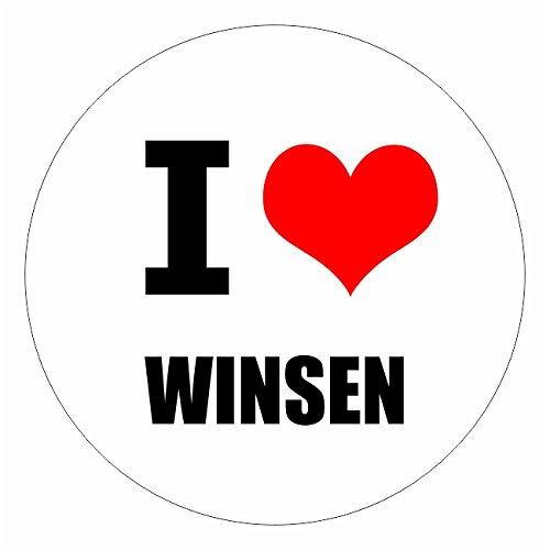 I love Winsen Harburg in 2 Größen erhältlich Aufkleber mehrfarbig Sticker Decal