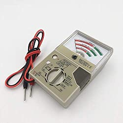 Battery Tester with Meter Electric Voltage Tester for AA AAA C D N Button Cell Batteries