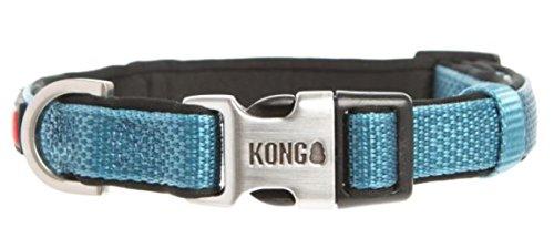 KONG Comfort Neoprene Padded Dog Collar offered by Barker Brands Inc.  (XL, Blue)
