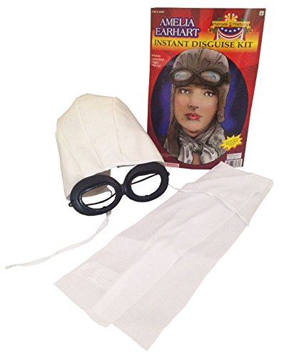 Forum Novelties Amelia Earhart Helmet Goggles Scarf Disguise Adult Costume Kit