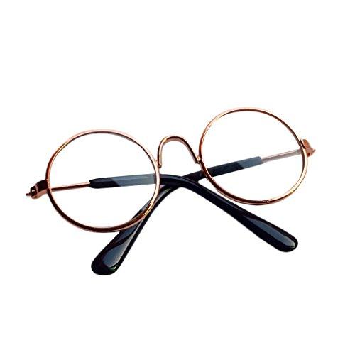 Cuigu Puppe Brillen Sonnenbrille für BJD American Grils Spielzeug Foto Requisiten (4)