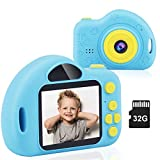 Kids Camera,WIMKEN Digital Video Camera for Girls Boys with 32GB SD Card Rechargeable