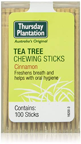 Thursday Plantation Tea Tree Chewing Sticks Cinnamon 1 Pack of 100 Sticks