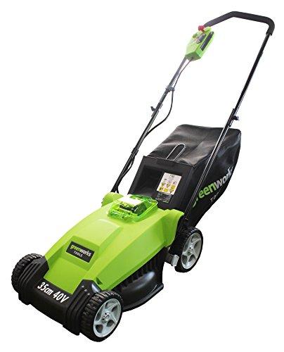 Greenworks Tools 2500067VA 40V, 35cm Akku-Rasenmäher inklusive 2 Ah Akku und Ladegerät