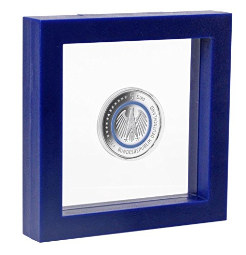 SAFE - Sammelkästen & Behältnisse für Sammlermünzen & Briefmarken in Blau, Größe innen: 10 x 10 cm