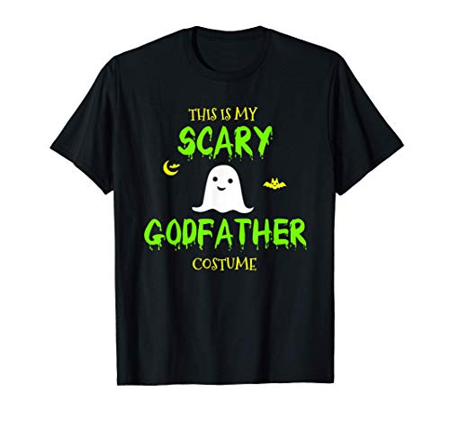 Scary Godfather Halloween Costume Lazy Easy T-Shirt
