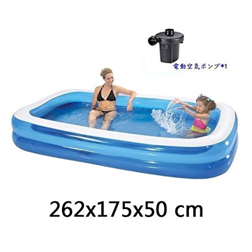 Piscina infantil familiar Piscina for niños, medianas completa Bañera Océano Ball Pool Summer Pool Party Big Space interacción entre padres e hijos espesado resistente a la abrasión 262x175x50 Cm Vera