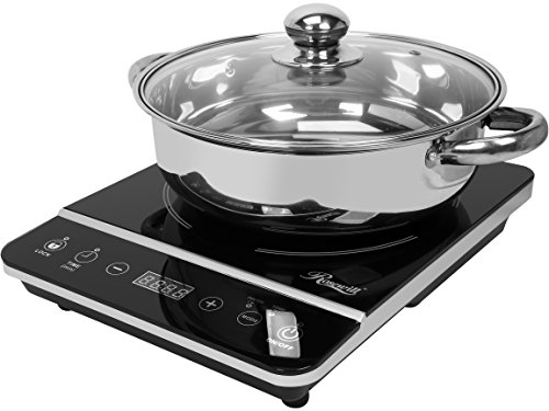 Rosewill Induction Cooker 1800 Watt, Induction Cooktop, Electric Burner with Stainless Steel Pot 10' 3.5 QT 18-8, RHAI-13001