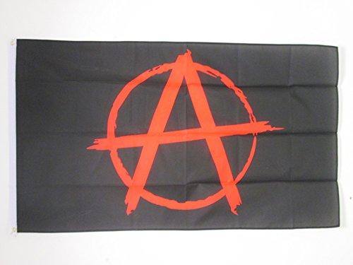 AZ FLAG Flagge Anarchie SCHWARZ UND ROT 150x90cm - ANARCHISMUS Fahne 90 x 150 cm - flaggen Top Qualität