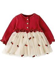 Fairy Baby ベビーワンピース チュチュドレス チュールスカート 長袖 女の子 春秋服 プリンセス風