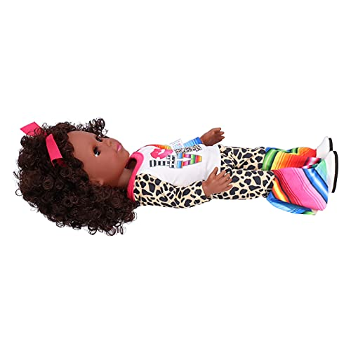 Muñeca de Juguete, muñeca Negra Muñecas bebé realistas Muñeca bebé renacida Suave con Ropa Bonita para Regalos